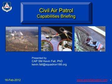 Civil Air Patrol Capabilities Briefing (pdf)