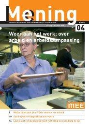 Mening nr 4, dec 2005 - MEE Zuidoost Brabant