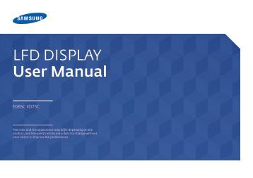 LFD DISPLAY User Manual - CNET Content Solutions