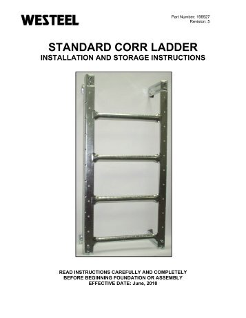198927 SC Ladder INSTALLATION INSTRUCTIONS.pdf - Westeel