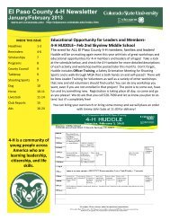 January 2013.pdf - El Paso County Extension - Colorado State ...