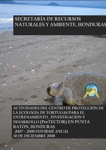 secretaría de recursos naturales y ambiente, honduras - ProTECTOR