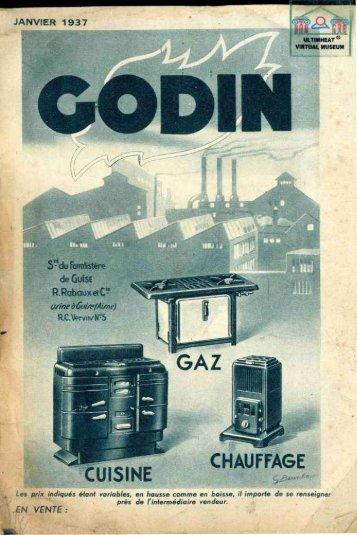 POELES GODIN, CUISINE CHAUFFAGE GAZ, 1937 - Ultimheat