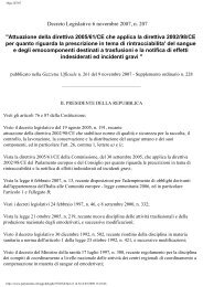 Decreto Legislativo 6 novembre 2007, n. 207 ... - Avis Ragusa