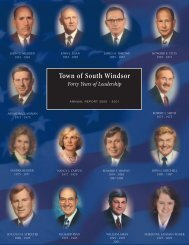 2001 Annual Report - Town of South Windsor