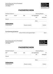 passierschein passierschein - VBS Floridsdorf - Vienna Business ...