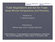 Trade Negotiations and Aid-for-Trade: West African ... - ILEAP