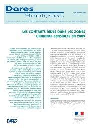 Les contrats aidés dans les zones urbaines sensibles en 2009