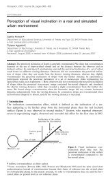 Perception of visual inclination in a real and simulated urban ...