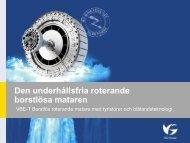 Den underhållsfria roterande borstlösa mataren - Energi Norge