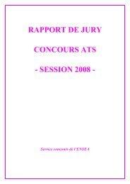 Rapport ATS 2008 - Concours ENSEA