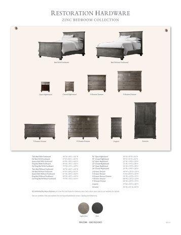 ZINC BEDROOM COLLECTION - Restoration Hardware