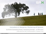 Innovations in Margarine, Shortenings & Spreads - MOSTA