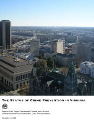 The Status of Crime Prevention in Virginia - Virginia Department of ...