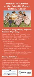 Summer Backpack Rack Card.indd - Columbia County Historical ...