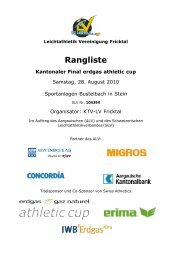 erdgas athletic cup - ALV