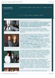Presse-Info Preisträger/innen gute aussichten 2010/2011 (PDF)