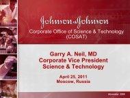 Johnson & Johnson Pharmaceuticals Group Overview Presentation