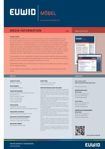 media information - EUWID Möbel