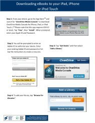Downloading eBooks to your iPad, iPhone or iPod Touch
