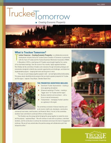 What is Truckee Tomorrow? - Truckee Donner Chamber of Commerce