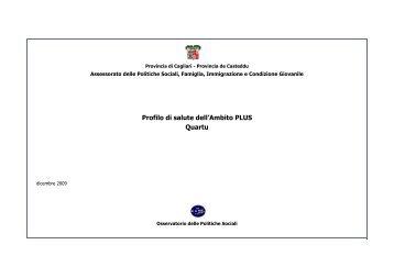 Profilo d'ambito Quartu novembre 2009 - Sociale - Provincia di ...