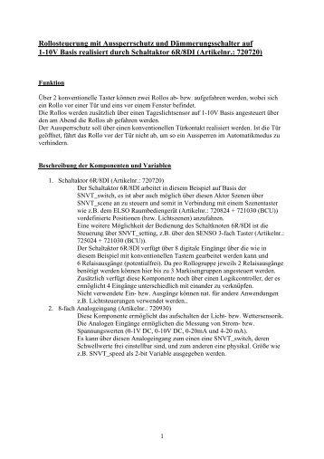 Markisensteuerung mit Schaltaktor 6R/8DI (Artikelnr