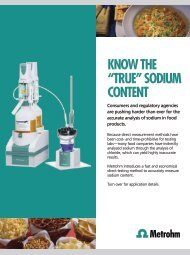 Metrohm 859 Titrotherm Sodium Analysis Kit with ... - MEP Instruments