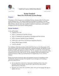 Design Standard Basic Fire Protection System Design