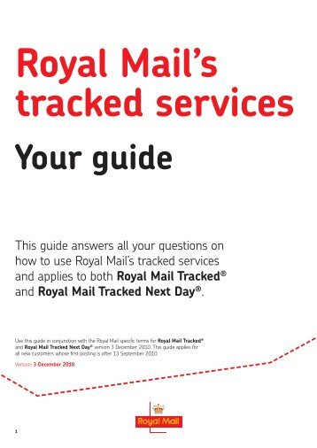 Your guide - Royal Mail