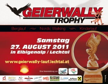 Flyer - Geierwally Trophy 2011