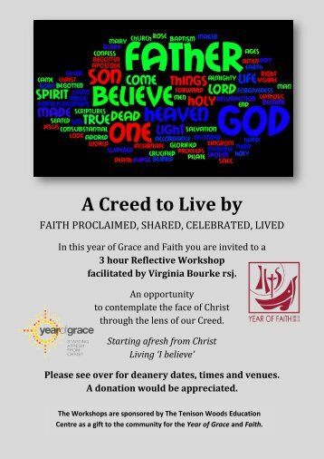 A Creed to Live by - Catholic Diocese of Maitland-Newcastle