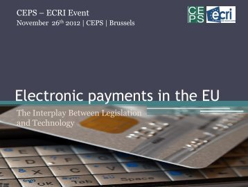 Innovation in mobile and electronic payments