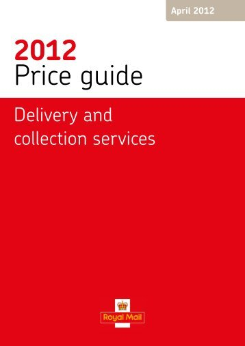 Delivery and collection services - Royal Mail