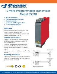 Profibus® PA/Foundation™ Fieldbus Transmitter - Conax