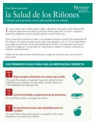 La dieta sana para la salud de los riñones - National Kidney ...