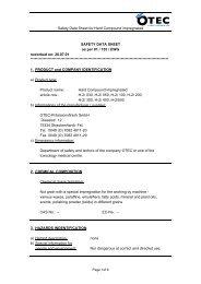 Safety Data Sheet for Hard Compound impregnated ... - Edeltec