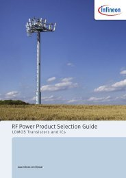 Infineon RF Power Product Selection ... - Efo-power.ru