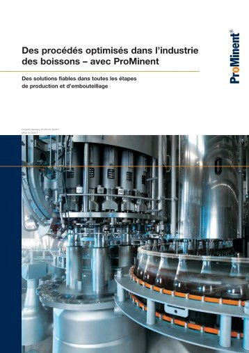 Brochure - Industrie des boissons