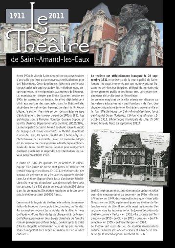 Avant 1906, la ville de Saint-Amand—les—eaux est équipée d'une ...