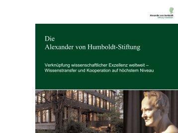 Humboldt Forschungsstipendium