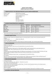 Arbofoam Gun Cleaner MSDS
