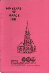 140 Years of Grace (1981) - Trinity Evangelical Lutheran Church