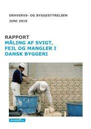 MÃ¥ling af svigt, fejl og mangler i dansk byggeri