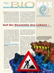 Auf der Baustelle des Lebens – wie die Proteinfabriken ... - Scinexx
