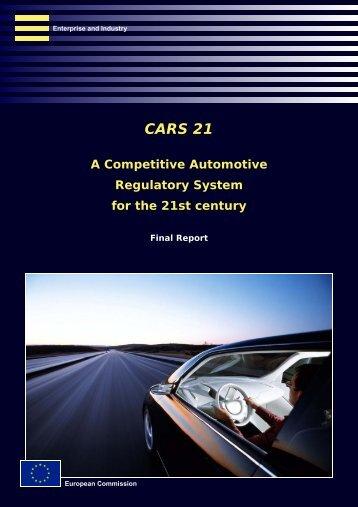 CARS 21 Final Report - FIA Foundation