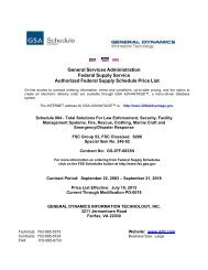 GSA-approved price list - General Dynamics Information Technology