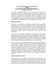 Política Drogas y Alcohol - Pontificia Universidad Católica de Puerto ...