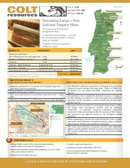 Developing Europe's Next Gold and Tungsten Mines - Colt Resources