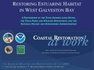 restoring estuarine habitat in west galveston bay - Restore America's ...